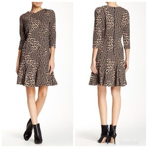 """JUST IN""  Printed Knit Jacquard Dress."